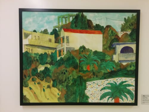 Paintings by Adam McCauley seen at Zuckerberg San Francisco General Hospital and Trauma Center, San Francisco - Cretian Hillside