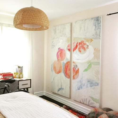 Paintings by Anne-Louise Ewen seen at Private Residence, Los Angeles - Pomegranates