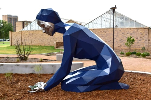 Sculptures by Julian Voss-Andreae seen at Texas Tech University, Lubbock - Agave Dreams