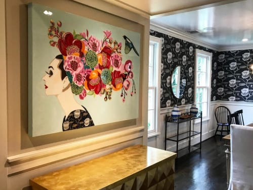Paintings by Ashley Longshore at Private Residence, New York - Audrey & Florals Pop Art