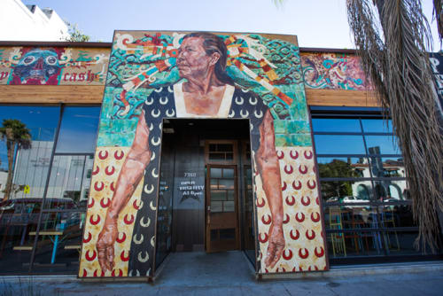 Murals by Ricardo Estrada seen at Petty Cash Taqueria, Los Angeles - Gatekeeper