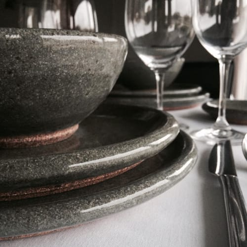 Tableware by Cm Ceramics seen at Friday Harbor House, Friday Harbor - Double-tiered Bowls