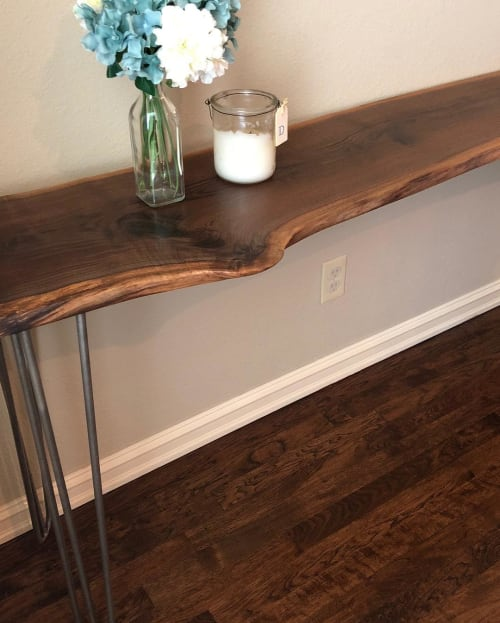 Tables by Moonbell Custom Furnishings seen at Private Residence, Coweta - Live Edge Tables