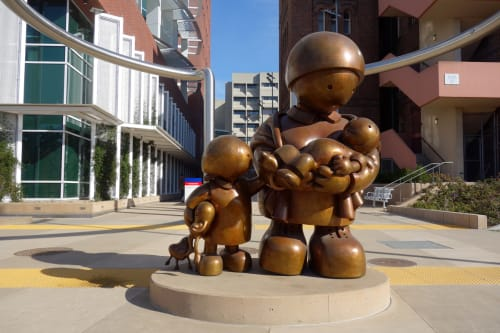 Sculptures by Tom Otterness at Zuckerberg San Francisco General Hospital and Trauma Center, San Francisco - Healing Hearts