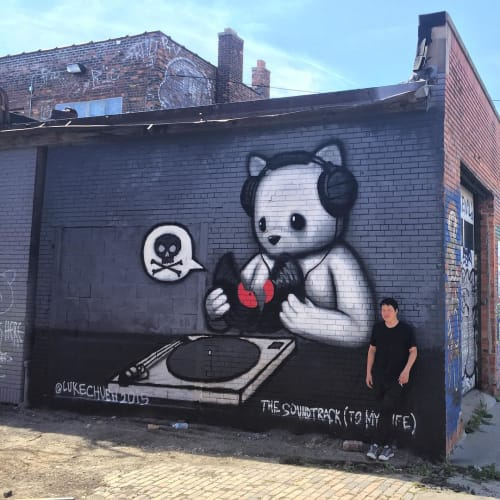 Street Murals by Luke Chueh seen at Eastern Market, Detroit, Detroit - The Soundtrack (To My Life)