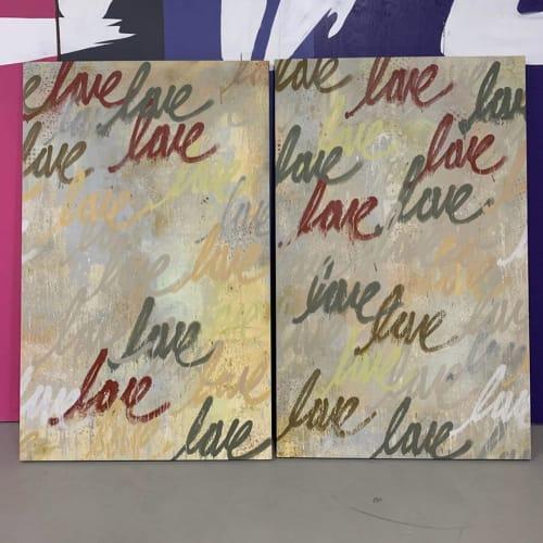 Paintings by Ruben Rojas seen at Creator's Studio, Santa Monica - Autumn 1 & 2