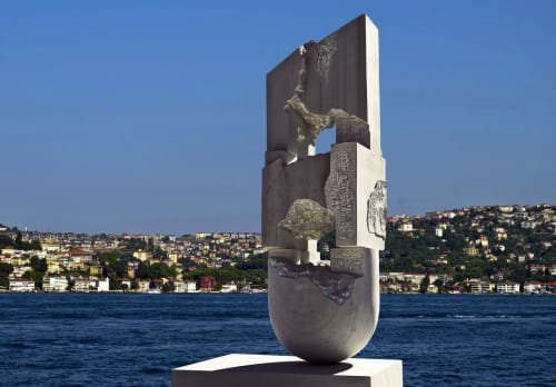"Public Sculptures by Panaite Chifu seen at İstanbul, Istanbul - ""Ruin"" Sculpture"