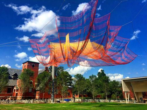 Public Sculptures by Janet Echelman seen at LeBauer Park, Greensboro, NC, Greensboro - Where We Met