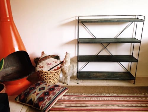 Furniture by Mojave Moon Design seen at Pioneertown Motel, Pioneertown - Steel Shelves
