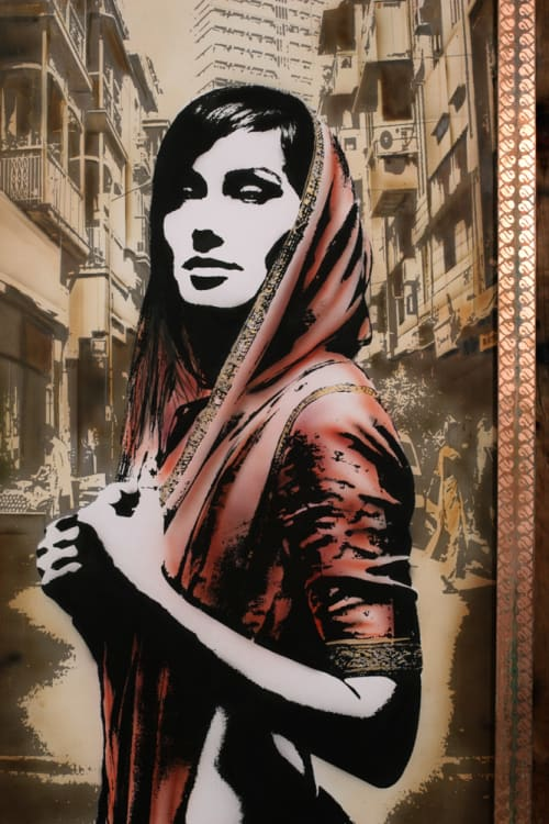 Murals by Eddie Colla seen at DOSA on Fillmore, San Francisco - Imminence