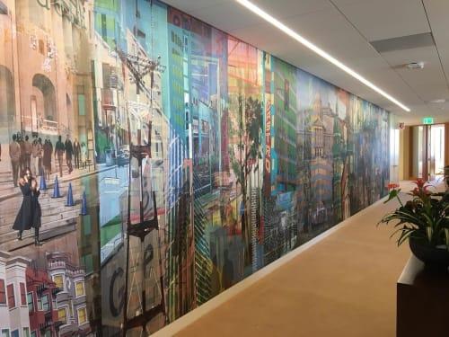 Wall Treatments by Counterpoint Studio, LLC seen at Downtown, San Francisco, CA, San Francisco - Downtown SF