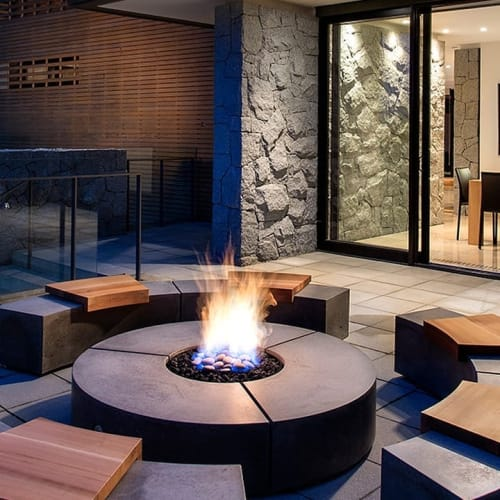 Fireplaces by Sticks and Stones Furniture seen at Private Residence, Santa Monica - Social Circle