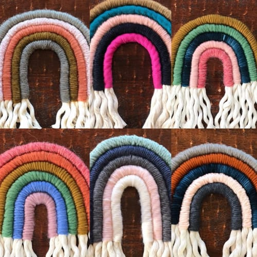Macrame Wall Hanging by Katie Boland Design seen at Amano Print House, Appleton - Rainbow Wall hanging
