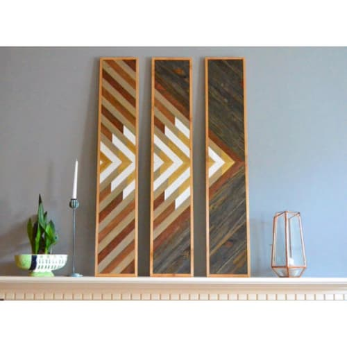 Wall Hangings by Sweet Home Wiscago at Roscoe Village / Lakeview, Chicago - 3 Panel Wood Art