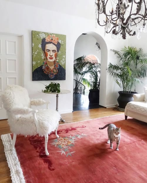 Art & Wall Decor by Sharlene Kayne (Skayne Designs) seen at Private Residence, Los Angeles, Los Angeles - Frida Kahlo