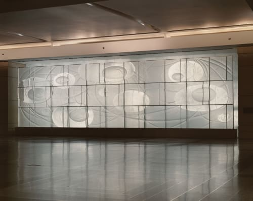 Art & Wall Decor by Denise Amses seen at 30 Rockefeller Center Concourse, New York, New York - Rhythms of Infinity