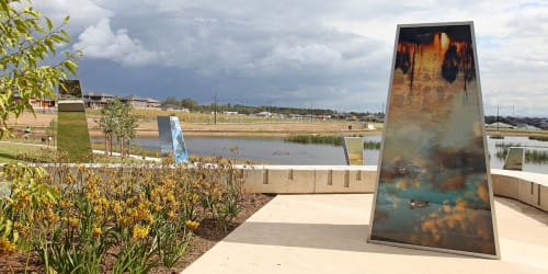 Public Sculptures by Jill Chism seen at The Ponds Parklands, The Ponds - Ponds Dreaming