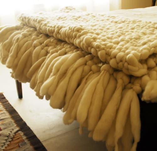Linens & Bedding by Homelosophy seen at Miami, Florida, Miami - Clouds Large Chunky Knit Blanket