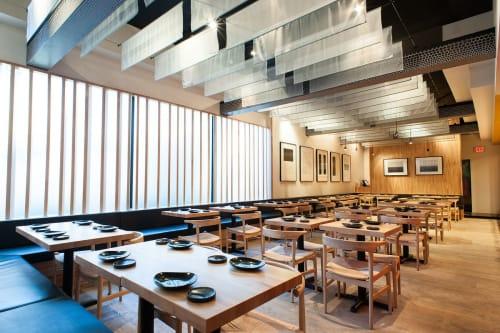 Tables by Marwan Al Sayed Inc. seen at Hamasaku, Los Angeles - Maple Tables