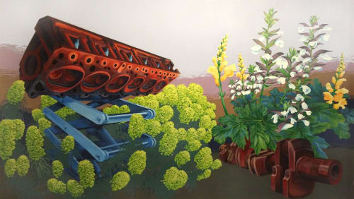 Murals by Megan Lingerfelt seen at Inscape Arts and Cultural Center, Seattle - Mural