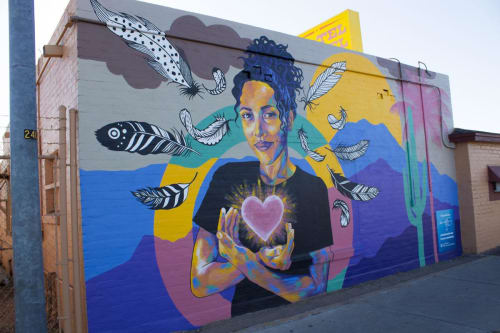 Street Murals by Jessica Gonzales Art seen at No-Tel Motel, Tucson - Mural