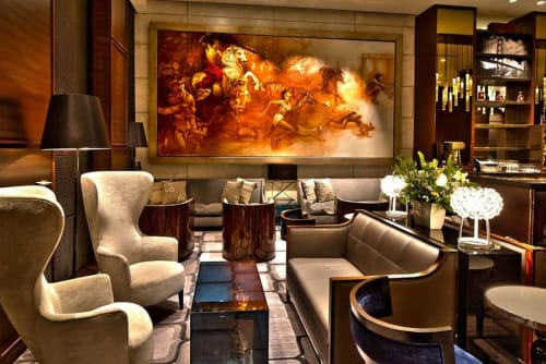 Murals by Andrew Morrow seen at The St. Regis San Francisco, San Francisco - Love and War