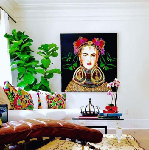 Paintings by Ashley Longshore at Private Residence, New York - Frida