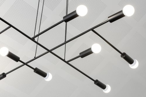 Pendants by Artefact Industries seen at Whittlesea Tech School, Epping - Custom Pendants and Custom T_Macro Surface Light