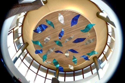 Public Sculptures by Bonnie Rubinstein Studio at Westfields Hospital & Clinic, New Richmond - Illuminated Flight