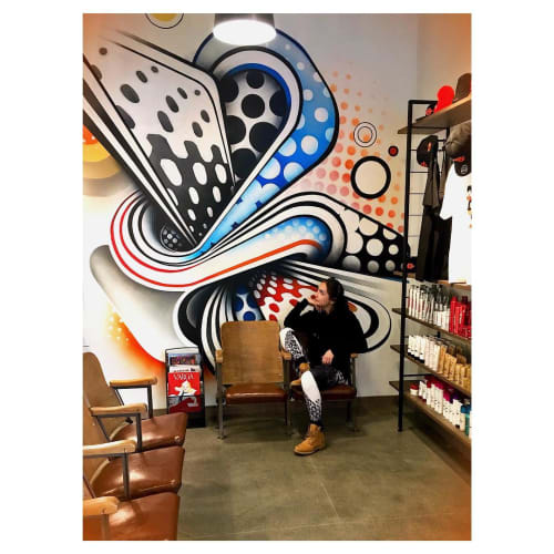 Murals by Anna Charney seen at Bishops Haircuts - Hair Color, Denver - Indoor Mural