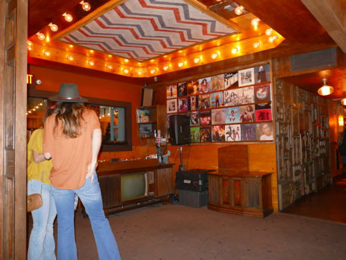 Interior Design by Houston Hospitality seen at Good Times at Davey Wayne's, Los Angeles - Custom Zigzag Ceiling