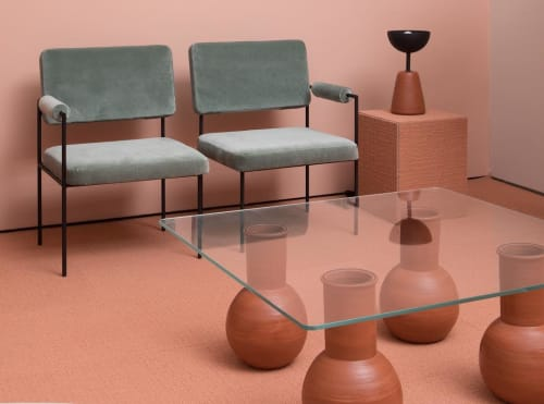 Tables by Eny Lee Parker seen at 100 Avenue of the Americas, New York - Furniture and Ceramic Works