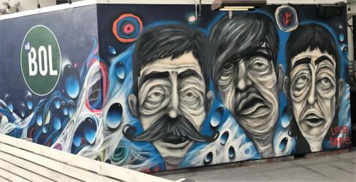 Murals by Annie Preece seen at EdiBOL, Los Angeles - EdiBOL Eats