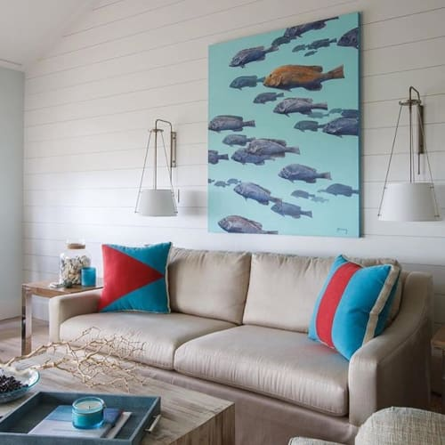 Paintings by Shawn Meharg at Private Residence, Ponte Vedra Beach - Nautical