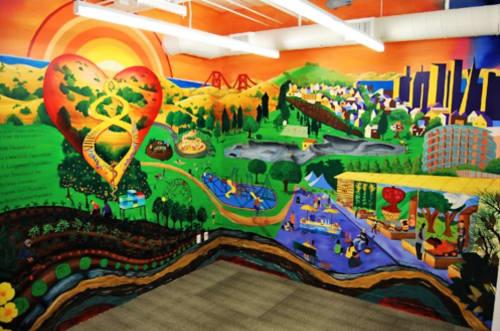 Murals by Yukako Ezoe seen at Zuckerberg San Francisco General Hospital and Trauma Center, San Francisco - Healthy Urban Living