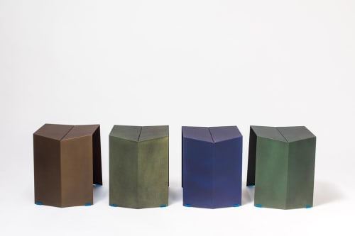 Chairs by Arcana seen at Arcana Metals Inc., Queens - Helium Stools