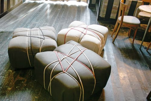 Benches & Ottomans by MARCANTONIO seen at Officina 49, Cesena - Pakko