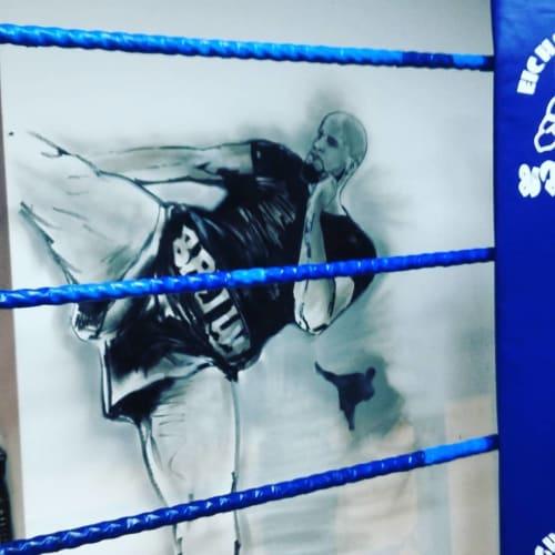 Murals by Dynamick seen at 8 Limbs Muay Thai Martial Arts Academy, Birmingham - Muay Thai Wall Murals