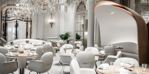 Alain Ducasse au Plaza Athénée, Restaurant, Interior Design