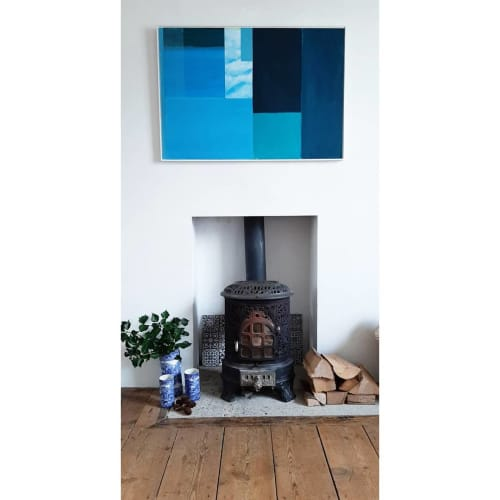 Paintings by Sally Burch (BA Hons) seen at Private Residence, Mistley - Blue on Blue Painting