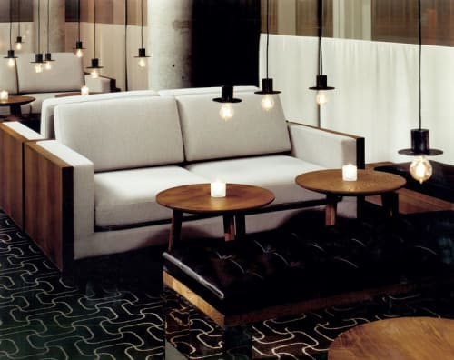 Benches & Ottomans by Thomas Juul-Hansen seen at Perry St, New York - Fumed solid oak wrapped banquettes