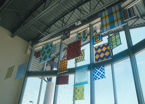 Paintings by Rae Mahaffey seen at Aurora Fire Station 11, Aurora - Banners