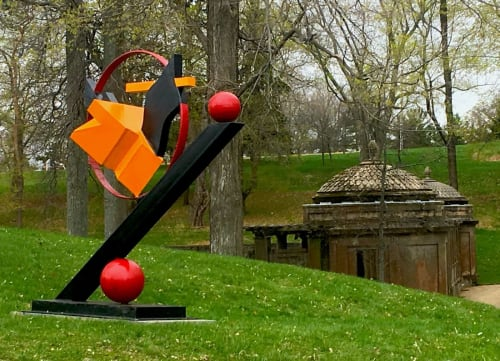 Public Sculptures by David Skora seen at Castle Hill, Castle Hill - The Geometry of Space