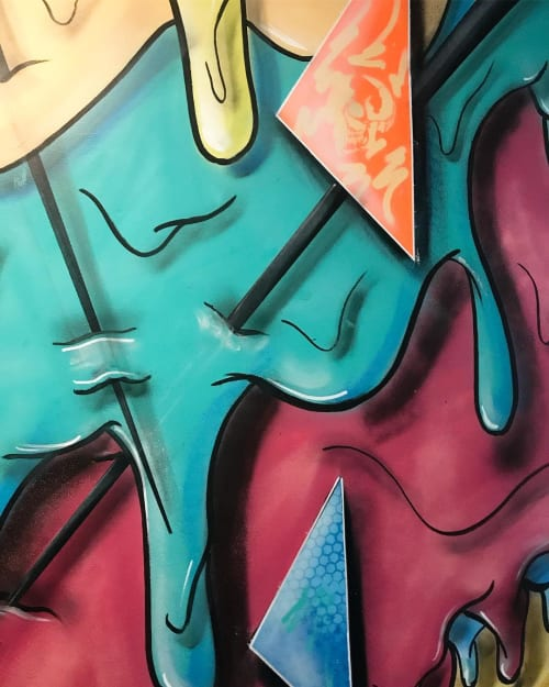 Murals by Scottie Drippin' seen at House of Trestles, San Clemente - Wall Mural