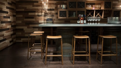 Chairs by Fyrn seen at Kimpton Hotels and Restaurants, San Francisco - Bartlett Backless Bar Stool