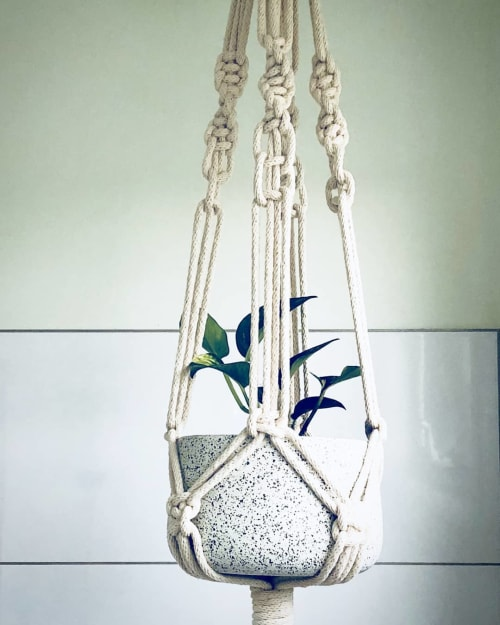 Macrame Wall Hanging by Macrababy seen at Private Residence, West Footscray - Chunky Plant Hanger