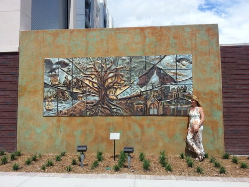 Street Murals by Natalie Blake Studios at The Trio At ENCORE!, Tampa - Dawning Sun: 1820-1920