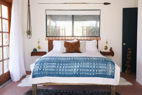 Linens & Bedding by Apprvl at The Joshua Tree Casita, Joshua Tree - Mud Cloth Blanket