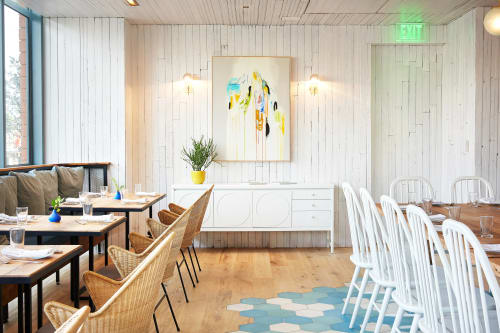 Paintings by Diana Greenberg seen at Café No Sé, South Congress Hotel, Austin - Abstract Painting