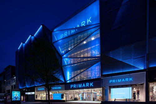Lighting Design by Lapd seen at Primark, London - Narrow Offset LED Grazers